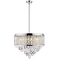 Z-Lite 9002P24-CH Bijou 9 Light 24 inch Chrome Pendant Ceiling Light in 22