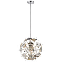 Z-Lite 9003P18-CH Branam 5 Light 18 inch Chrome Pendant Ceiling Light
