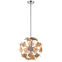 Z-Lite 9003P18-CHP Branam 5 Light 18 inch Chrome and Champagne Pendant Ceiling Light