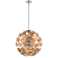 Z-Lite 9003P24-CHP Branam 9 Light 25 inch Chrome and Champagne Pendant Ceiling Light