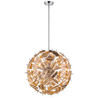 Branam 13 Light 30 inch Chrome and Champagne Pendant Ceiling Light