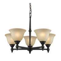 Z-Lite Clayton 5 Light Chandelier in Burnt Antique Copper 901-5-BAC photo thumbnail