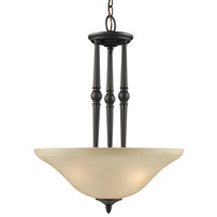 Z-Lite Clayton 3 Light Pendant in Burnt Antique Copper 901P-BAC