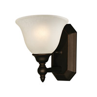 Clayton 1 Light 8 inch Bronze Vanity Wall Light