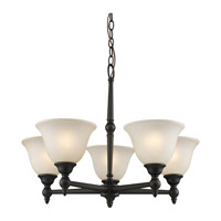 Z-Lite Clayton 5 Light Chandelier in Bronze 904-5