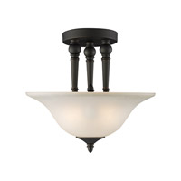 Z-Lite Clayton 2 Light Semi Flush Mount in Bronze 904SF