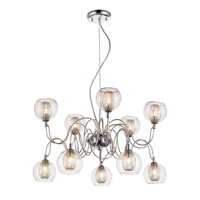 Auge 10 Light 24 inch Chrome Chandelier Ceiling Light