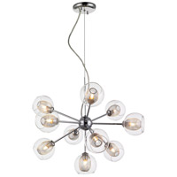 Auge 10 Light 23 inch Chrome Chandelier Ceiling Light