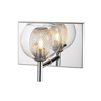 Z-Lite Auge 1 Light Wall Sconce in Chrome 905-1S photo thumbnail