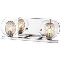 Z-Lite 905-2V Auge 2 Light 14 inch Chrome Vanity Wall Light in G9