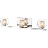 Auge 3 Light 23 inch Chrome Vanity Light Wall Light in G9