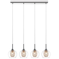 Z-Lite 905-4 Auge 4 Light 28 inch Chrome Island/Billiard Ceiling Light