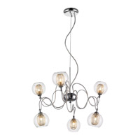 Z-Lite 905-6A Auge 6 Light 24 inch Chrome Chandelier Ceiling Light