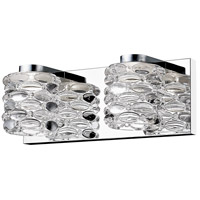 Z-Lite 907-2V-LED Dawson LED 13 inch Chrome Vanity Wall Light in 2