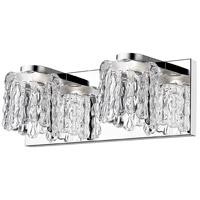 Z-Lite 908-2V-LED Tempest LED 13 inch Chrome Vanity Wall Light in 2