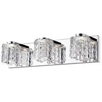 Chrome Steel Tempest Bathroom Vanity Lights
