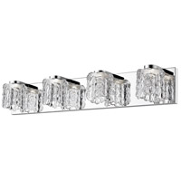 Z-Lite 908-4V-LED Tempest LED 28 inch Chrome Vanity Wall Light in 4