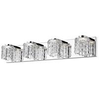 Z-Lite 908-4V-LED Tempest LED 28 inch Chrome Vanity Wall Light in 4