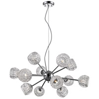 Z-Lite 909-12 Laurentian 12 Light 30 inch Chrome Pendant Ceiling Light