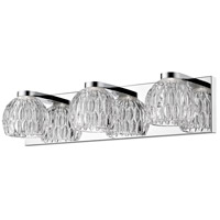 Z-Lite 909-3V-LED Laurentian LED 20 inch Chrome Vanity Wall Light in 3