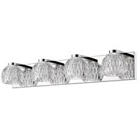 Z-Lite 909-4V-LED Laurentian LED 28 inch Chrome Vanity Wall Light in 4