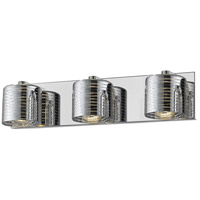 Z-Lite 911-3V-LED Sempter LED 21 inch Chrome Vanity Wall Light in 3 6.61 Chrome Glass