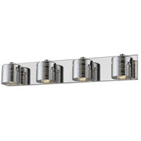Z-Lite 911-4V-LED Sempter LED 28 inch Chrome Vanity Wall Light in 4 3.52 Chrome and Crystal