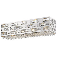 Z-Lite 912-4V-CH Aludra 4 Light 21 inch Chrome Vanity Wall Light in G9