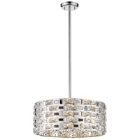 Z-Lite 912P-CH Aludra 5 Light 18 inch Chrome Pendant Ceiling Light