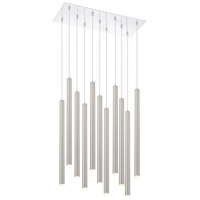 Z-Lite 917MP24-BN-LED-11LCH Forest LED 24 inch Chrome Island/Billiard Light Ceiling Light in Brushed Nickel Steel 11 40