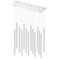 Z-Lite 917MP24-CH-LED-14LCH Forest LED 32 inch Chrome Island/Billiard Ceiling Light in 51 Chrome Steel 14