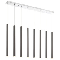 Z-Lite 917MP24-PBL-LED-8LCH Forest LED 44 inch Chrome Island/Billiard Ceiling Light in 8 30 Pearl Black Steel