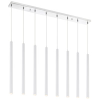 Z-Lite 917MP24-WH-LED-8LCH Forest LED 44 inch Chrome Island/Billiard Light Ceiling Light in 8 30 Matte White Steel