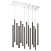 Z-Lite 917MP24PBL-LED-14LCH Forest LED 32 inch Chrome Island/Billiard Ceiling Light in Pearl Black Steel, 51, 14