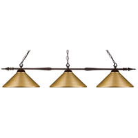 Z-Lite 99103BRZ-MSG Aztec 3 Light 50 inch Bronze Island/Billiard Ceiling Light