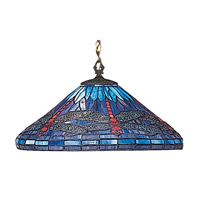 Z-Lite Dragonfly 1 Light Pendant in Weathered Bronze D16-1-01
