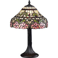 Z-Lite Accent Tiffany Lamp 1 Light Table Lamp in Bronze G12-3021 photo thumbnail