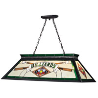Z-Lite Tiffany Billiard 4 Light Billiard/Island in Matte Black KD25GREEN
