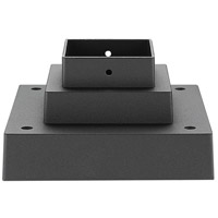 Z-Lite SQPM-BK Signature 7 inch Black Outdoor Pier Mount