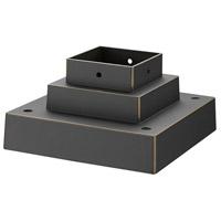 Z-Lite SQPM-ORB Signature 7 inch Oil Rubbed Bronze Outdoor Pier Mount