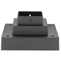 Z-Lite SQPM-ORBZ Signature 7 inch Outdoor Rubbed Bronze Outdoor Pier Mount