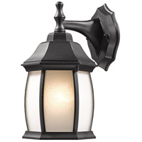 Z-Lite Waterdown 1 Light Outdoor Wall Light in Black T20-BK-F