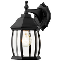 Waterdown 1 Light 12 inch Black Outdoor Wall Light in Clear Beveled Glass
