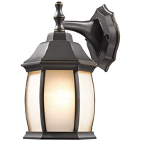 Waterdown 1 Light 12 inch Oil Rubbed Bronze Outdoor Wall Sconce in Frosted