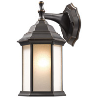 Z-Lite T21-ORB-F Waterdown 1 Light 12 inch Oil Rubbed Bronze Outdoor Wall Sconce