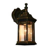 Z-Lite Waterdown 1 Light Outdoor Wall Light in Black Gold T21BG