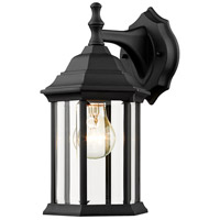 Waterdown 1 Light 12 inch Black Outdoor Wall Light