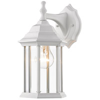 Z-Lite T21WH Waterdown 1 Light 12 inch Gloss White Outdoor Wall Sconce in Clear Beveled Glass