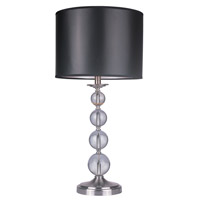 Z-Lite Portable Lamps 1 Light Table Lamp in Satin Nickel TL01 photo thumbnail