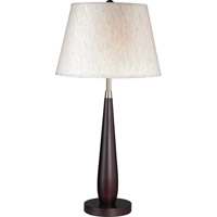 Z-Lite Portable Lamps 1 Light Table Lamp in Mahogany Finish/Flax Linen TL104